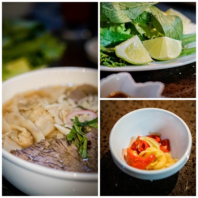 collage of Vietnamese food of the Restaurant Pho 88