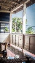 A balcony in Paramaribo, Suriname