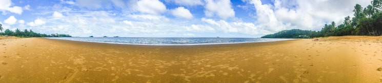 panorama picture of a beach in French Guiana