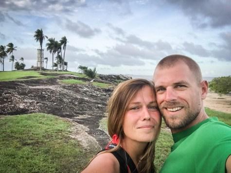 selfie of happy couple