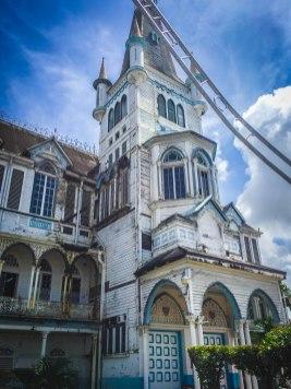 Church in Guyana during Georgetown Walking Tour