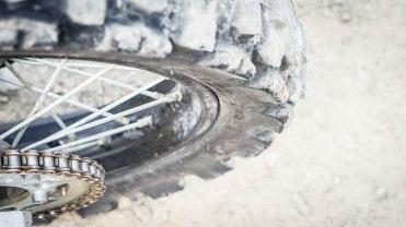 back wheel of a motocross bike in Colombia