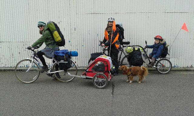 Family Travels from From London to Sweden- Bicycle Touring with a Dog