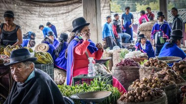 Woman at the market in Silvia, Colombia