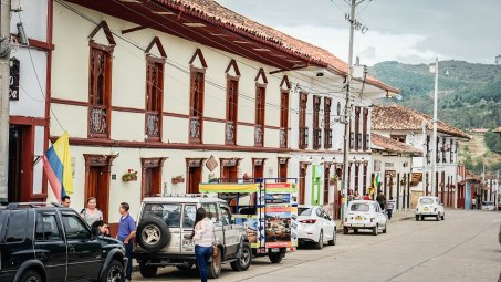 streets of Zapatoca in Colombia
