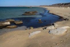 sandy beach in Kazakhstan