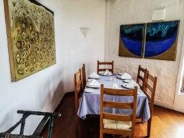 a set restaurant table in El Mirador Del Crater