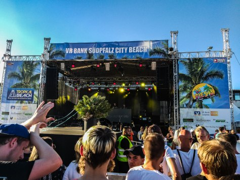 Stage at the Tropical Beach Festival Landau