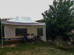 picknick tent at the World House Wetten