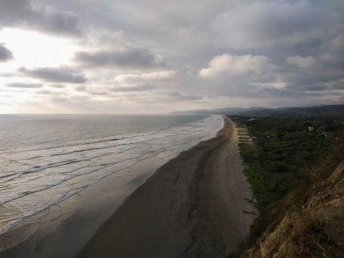 A sandy beach in Ecuador