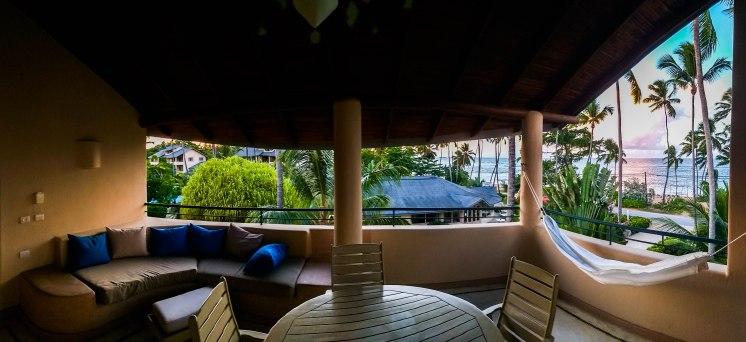 balcony at the Alisei Hotel