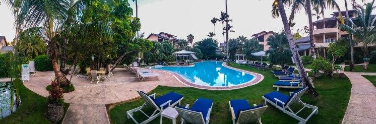 swimming pool at the Alisei Hotel