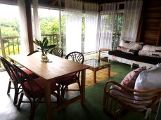 living room at Clave Verde Ecolodge
