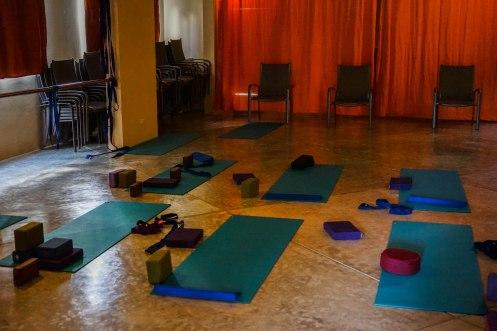 Yoga studio at the Alisei Hotel