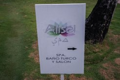 A Spa sign