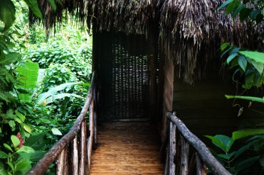 lodge entrance at the Dominican Treehouse Village