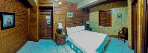 double bed of the Hacienda EL Jibarito
