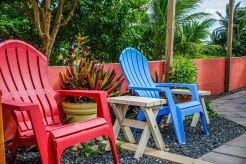 beach chairs at Casa Coral