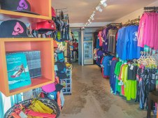 kitesurfing shop from the inside in the Dominican Republic