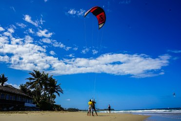 two man Kitesurfing in the Dominican Republic