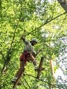 man on a climbing park