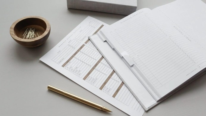 Budgeting Papers to help with guilt free spending