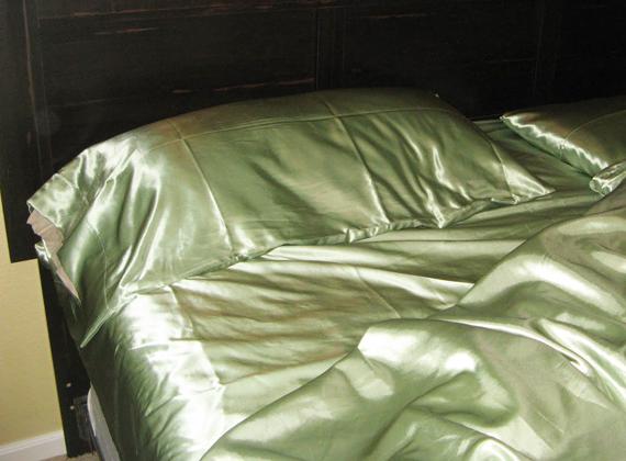 A bedside prayer over satin sheets