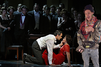 """A hipster socialite live-tweets the party in Act II, Scene 2 of """"La Traviata"""""""
