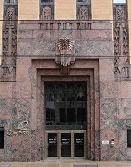 The Qwest Building in Minneapolis, originally the Northwestern Bell Telephone Building, built 1930-1932.