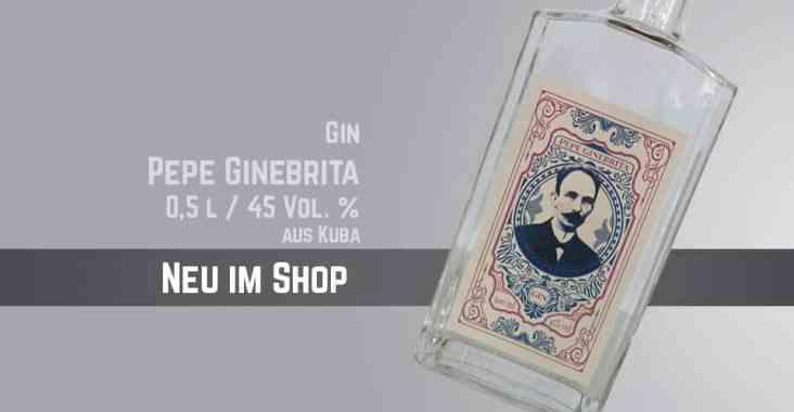 Neu im Shop - Gin Pepe Ginebrita mit 45 Vol%