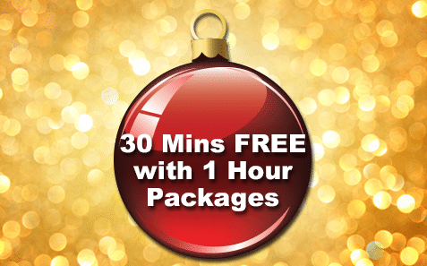15th – 16th December30 Minutes FREE with 1 Hour Packages