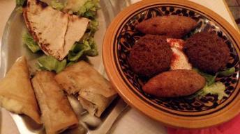 Falafel, kibbeh, various bureks