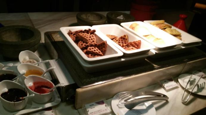 And they even did one better and made chocolate waffles!