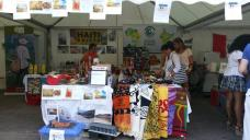 Village stands selling crafts to raise funds for Haiti