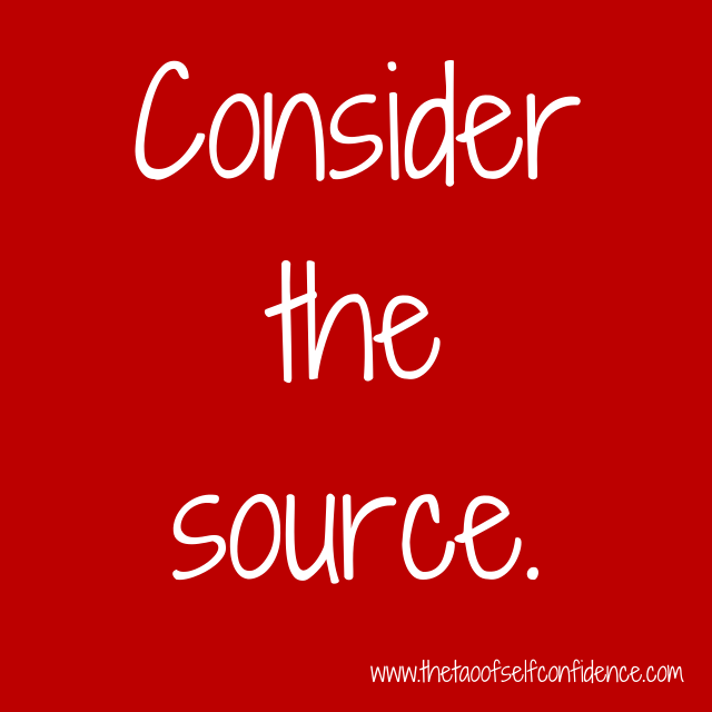 Consider the source.
