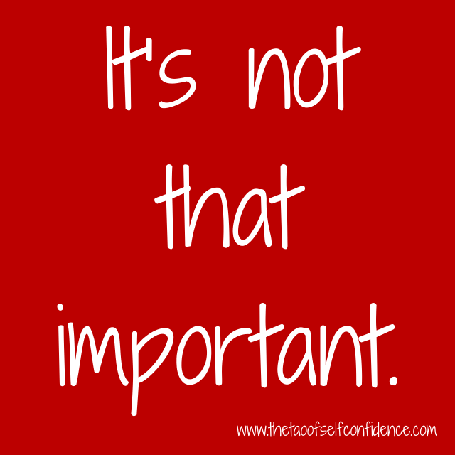 It's not that important.