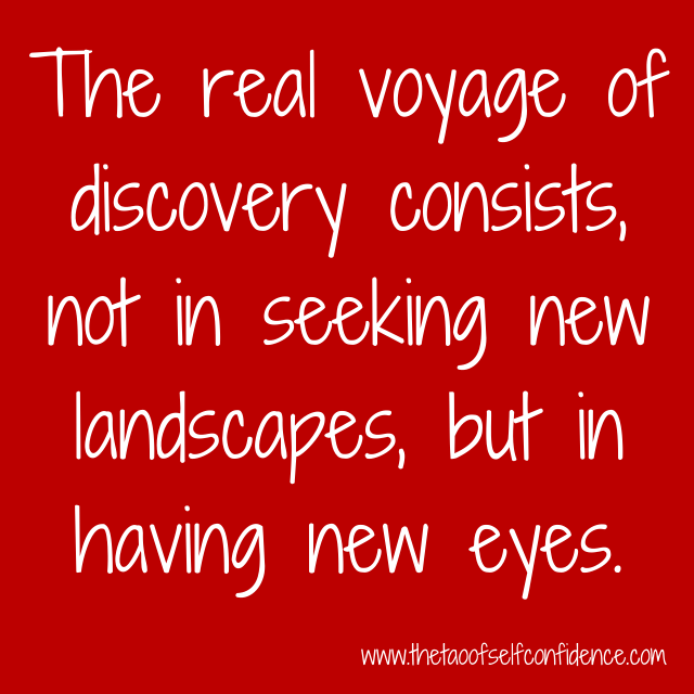 The real voyage of discovery consists, not in seeking new landscapes, but in having new eyes.