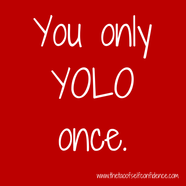 You only YOLO once.