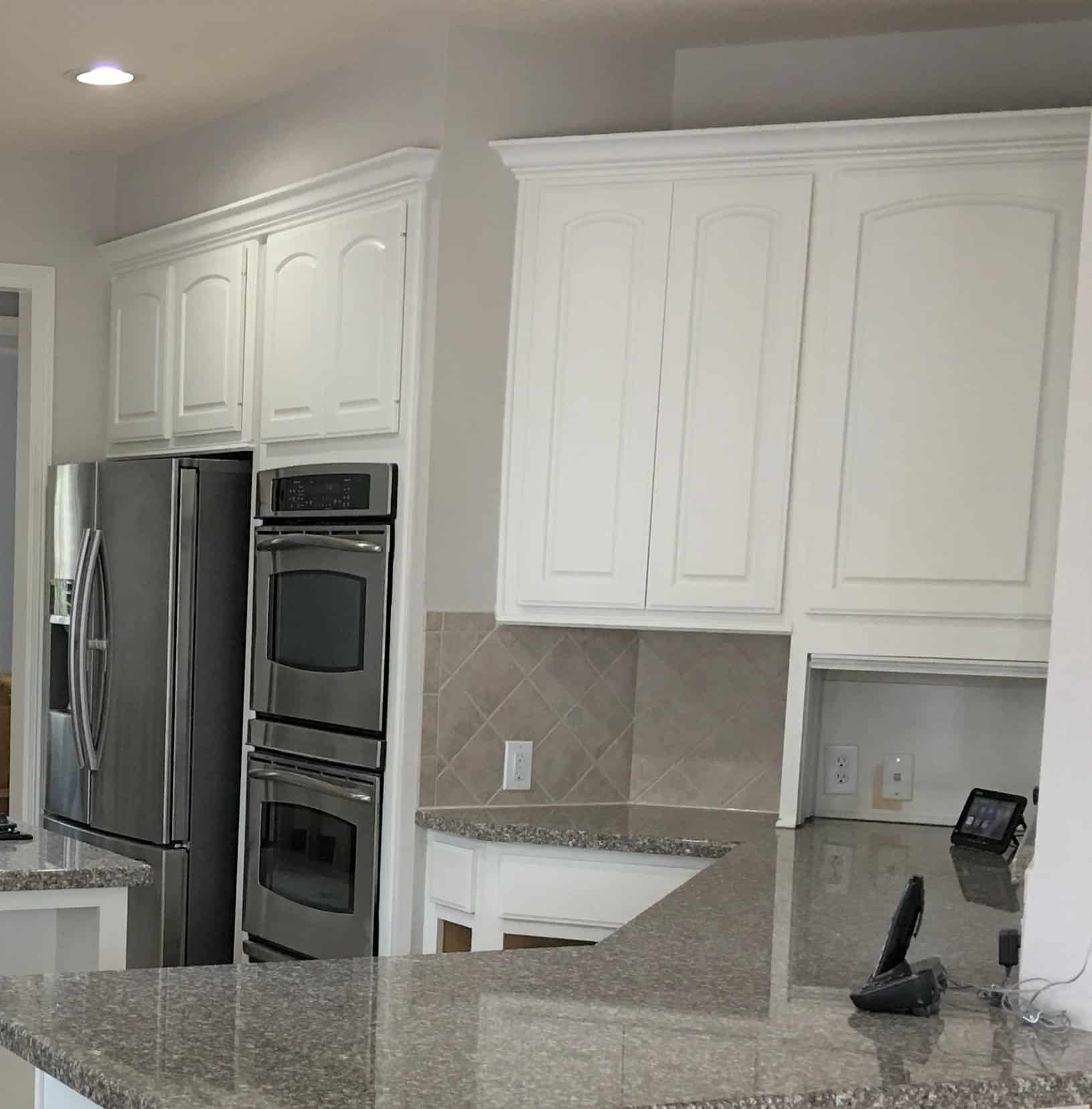 White Kitchen Cabinets 2018: 5 Tips-Painting Dark Kitchen Cabinets White (And The