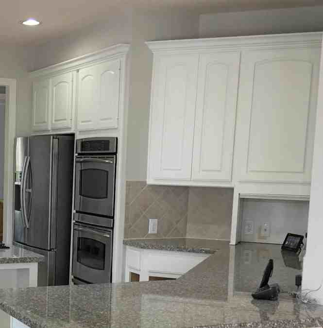 5 Tips-Painting Dark Kitchen Cabinets White (And The