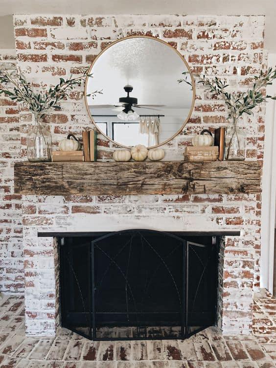 35 Gorgeous Natural Brick Fireplace Ideas Part 2