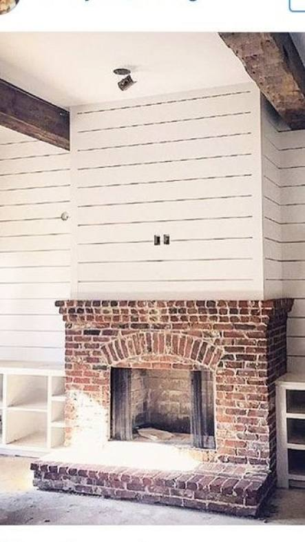 Red Brick House With Gray Trim