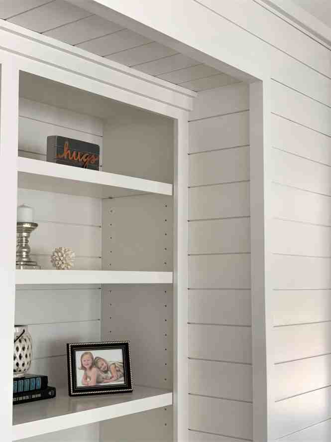 Adding a Shiplap Feature Wall to Living Room