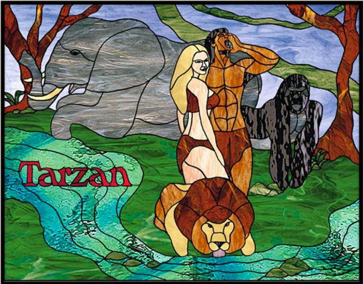 Tarzan Stained Glass