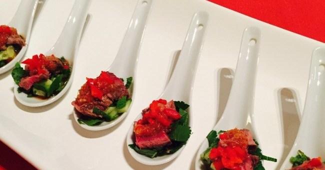 Siucra Thai Beef Salad Canapes