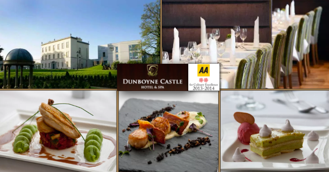 Dunboyne Castle Offer: Enjoy a 3 course meal with a bottle of wine for only €50