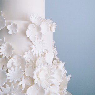 Artful Bakery White Wedding Cakew