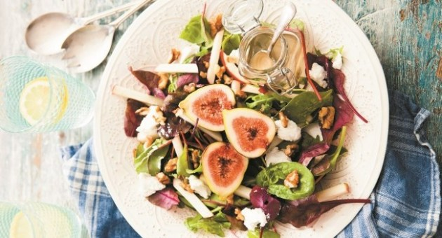 Fiona Uyema Irish Goat's Cheese, Fig & Apple Salad