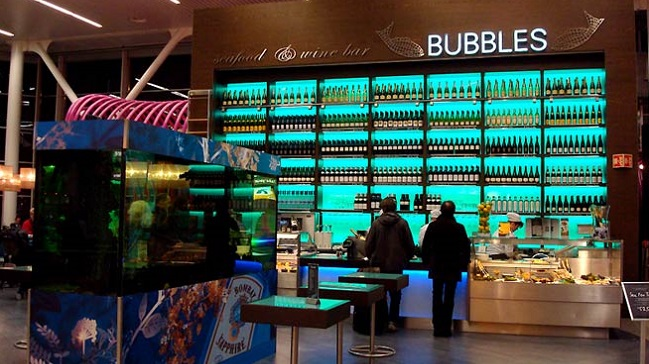 Bubbles Seafood & Wine Bar, Amsterdam Airport Schiphol