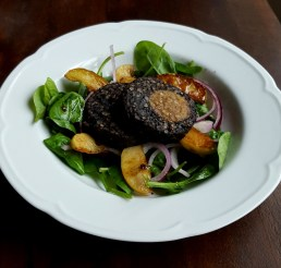 Warm Black Pudding and Apple Salad Recipe by Donna Hennessy